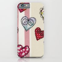 iPhone & iPod Case featuring Embroidered Heart Illustration by Lizzie Searle