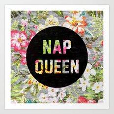Nap Queen Art Print