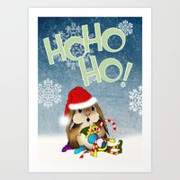 Currier & Bunnies: HO HO… Art Print