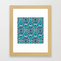 Morocco In Teal Framed Art Print