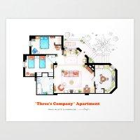Floorplan Of Three's Com… Art Print