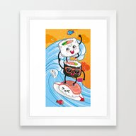 Surfin' Sushi Framed Art Print