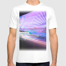 Night Light 66 Mens Fitted Tee SMALL White