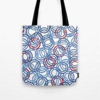 Blue Discs Tote Bag