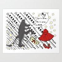 Little Red Riding Hood by Piarei Art Print