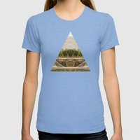 a passage through time Womens Fitted Tee Tri-Blue SMALL