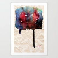 Little Nebula Watercolor Art Print
