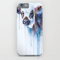 cow iPhone & iPod Cases featuring Cow by Slaveika Aladjova