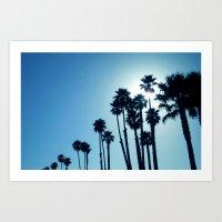 Santa Cruz - Blue  Art Print