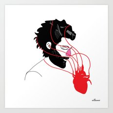 Love caught you  Art Print