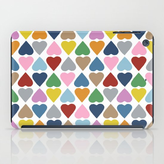 Diamond Hearts Repeat iPad Case