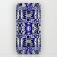Blue Tribal Glitch iPhone & iPod Skin