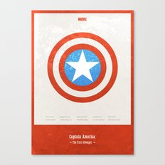Captain America - minimal poster Canvas Print