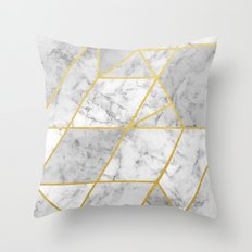 Shattered Marble 2 Throw Pillow