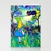 Alice In Wonderland Mone… Stationery Cards