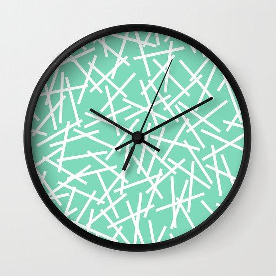 Kerplunk Mint Wall Clock