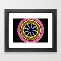 radial blame III Framed Art Print