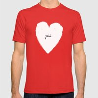 Yes! Mens Fitted Tee Red SMALL