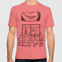 4EVER A VOYEUR Mens Fitted Tee Pomegranate SMALL