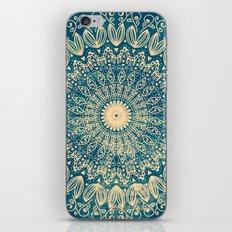 BLUE ORGANIC MANDALA iPhone & iPod Skin