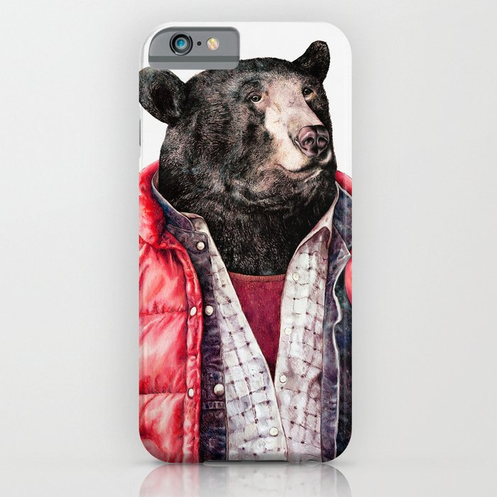 bear iphone case black iphone amp ipod by animal crew society6 10236