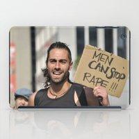 Men can stop rape iPad Case