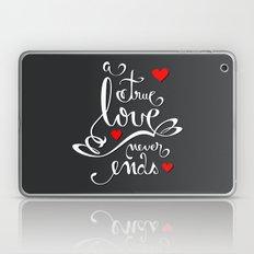 Valentine Love Calligraphy and Hearts V2 Laptop & iPad Skin