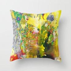 Virgo: The Mind Penetrator (Aug 23 - Sep 22) / Gouache Original A4 Horoscope Illustration / Painting Throw Pillow