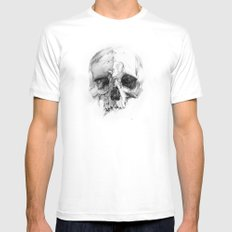 Skull 46 SMALL Mens Fitted Tee White