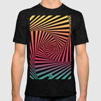 Summer Sunset Twista  Mens Fitted Tee Tri-Black SMALL