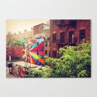 Kiss Explosion Canvas Print