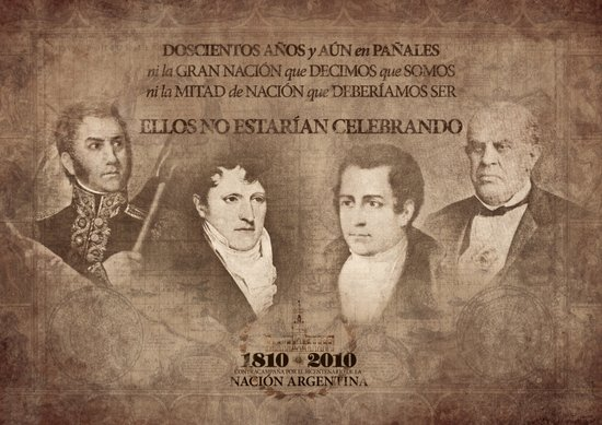 Campaign Against the Bicentenary of Argentina (2) Canvas Print