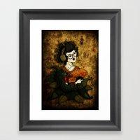 Geisha Hipster Framed Art Print