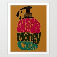 Wash Money Clean Art Print