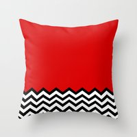Black Lodge Dreams (Twin… Throw Pillow