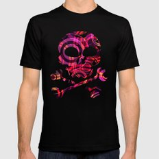 PATTERN-5 [atmospheric circle design] Black SMALL Mens Fitted Tee
