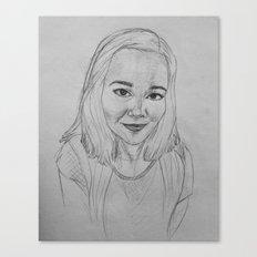 self portrait study in graphite Canvas Print