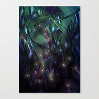 Nocturne With Fireflies Canvas Print