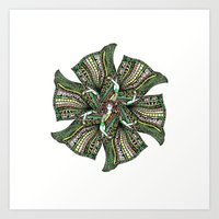 woman with sari mandala Art Print