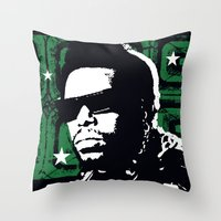 The Mighty Souls: Afrika Bambaataa Throw Pillow