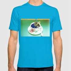 Climate Change - Wait An… Mens Fitted Tee Teal SMALL