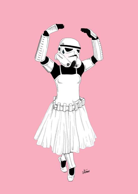 Ballerinatrooper Art Print