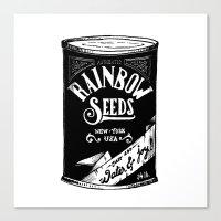 Rainbow Seeds Canvas Print