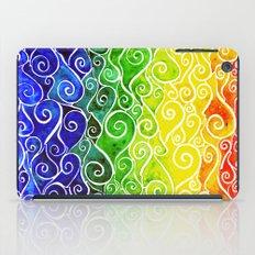Rainbow Water Waves iPad Case