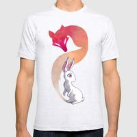 Rabbit and a Fox Mens Fitted Tee Ash Grey SMALL