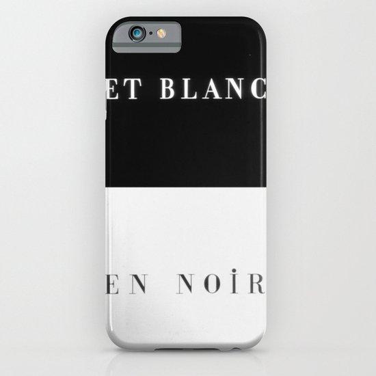 Et Blanc En Noir iPhone & iPod Case