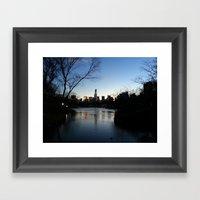 Dusk In The City Framed Art Print