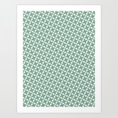 Mint Leaf Pattern Art Print