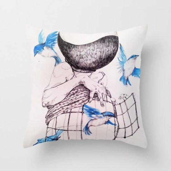 Human flight Throw Pillow