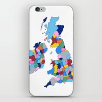England, Ireland, Scotland & Wales iPhone & iPod Skin